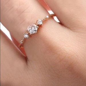 Women's Exquisite Sapphire and White CZ Ring